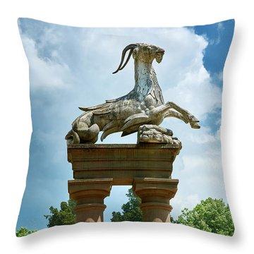 Neptune And Capricorn Throw Pillow