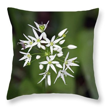 Neston. Wild Garlic. Throw Pillow