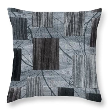 Neutral Toned Leaf Square Print Throw Pillow