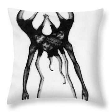 Never Letting Go... - Artwork Throw Pillow