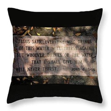 Never Thirst - John 4 Throw Pillow