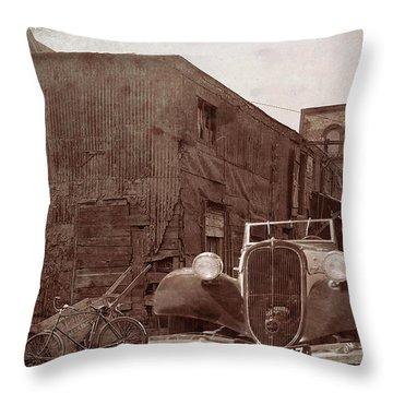 New 1936 Citroen Old Neighborhood Throw Pillow
