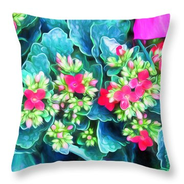 New Blooms Throw Pillow