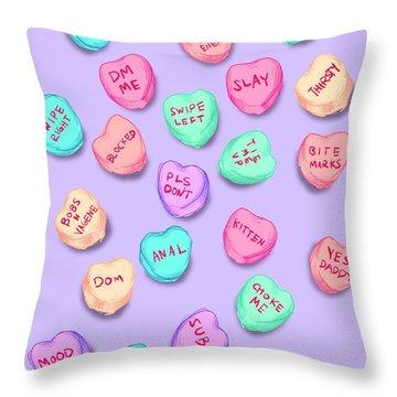 New Convo Hearts Throw Pillow
