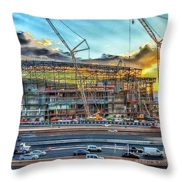 New Home For Las Vegas Raiders Throw Pillow