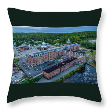 Throw Pillow featuring the photograph New Life For An Old Mill by Michael Hughes