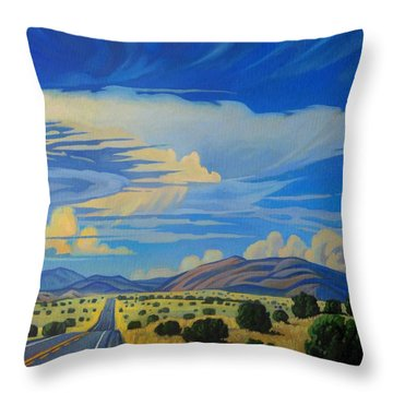 New Mexico Cloud Patterns Throw Pillow