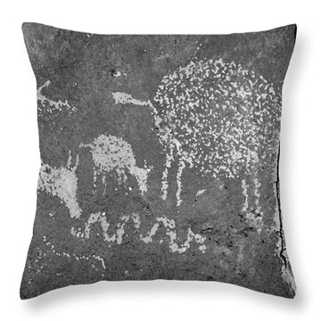 Throw Pillow featuring the photograph New Mexico Petroglyph by Jeff Phillippi