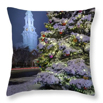 New Snow For Christmas Throw Pillow