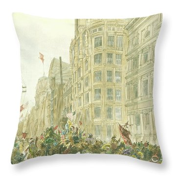 New Years Mummers On Chestnut Street Throw Pillow