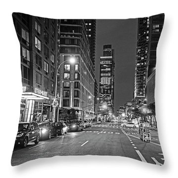 New York City Gotham West Market New York Ny Black And White Throw Pillow