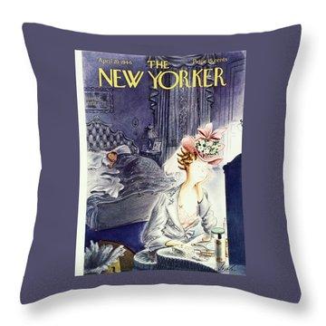 New Yorker April 20 1946 Throw Pillow