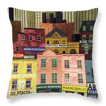 New Yorker April 6th 1946 Throw Pillow