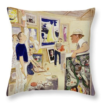 New Yorker August 11, 1951 Throw Pillow