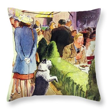 New Yorker August 17th 1946 Throw Pillow
