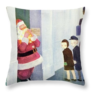New Yorker December 14th 1946 Throw Pillow