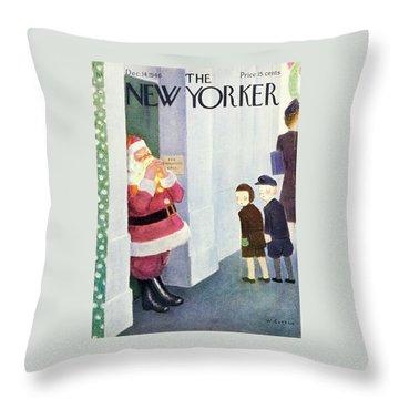 New Yorker December 14, 1946 Throw Pillow