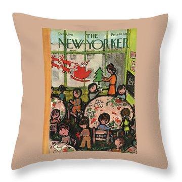 New Yorker December 8, 1951 Throw Pillow