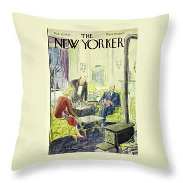 New Yorker February 13th 1943 Throw Pillow