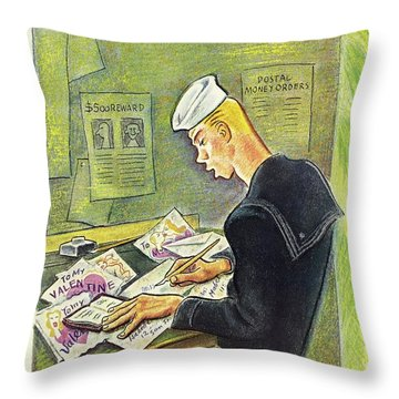 New Yorker February 14th 1942 Throw Pillow