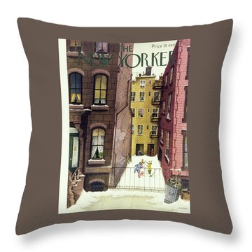 New Yorker February 2, 1946 Throw Pillow