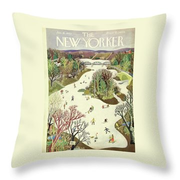 New Yorker January 16th 1943 Throw Pillow