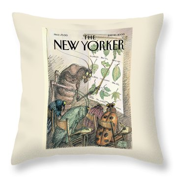 New Yorker July 10th, 2000 Throw Pillow