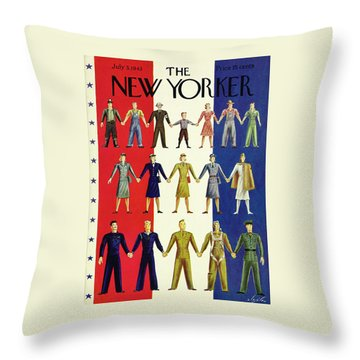 New Yorker July 3rd 1943 Throw Pillow