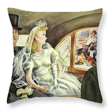 New Yorker June 20th 1942 Throw Pillow