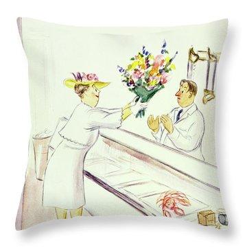 New Yorker June 22nd 1946 Throw Pillow