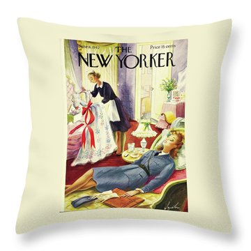 New Yorker June 6th 1942 Throw Pillow