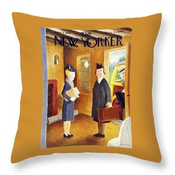 New Yorker June 8 1946 Throw Pillow