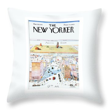 New Yorker March 29, 1976 Throw Pillow