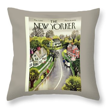 New Yorker May 3, 1947 Throw Pillow