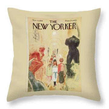 New Yorker November 14 1959 Throw Pillow