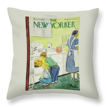New Yorker November 24, 1951 Throw Pillow