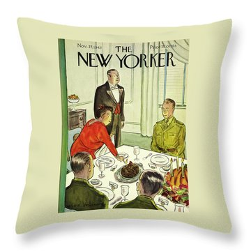 New Yorker November 27th 1943 Throw Pillow