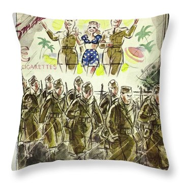 New Yorker November 7th 1942 Throw Pillow