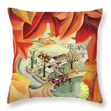 New Yorker October 17th 1942 Throw Pillow