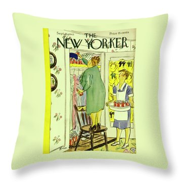 New Yorker September 25th 1943 Throw Pillow