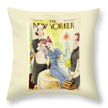 New Yorker September 4th 1943 Throw Pillow