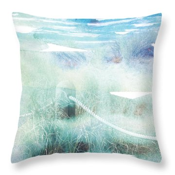 New Zealand Beachscape Throw Pillow