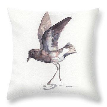 New Zealand Storm Petrel Throw Pillow