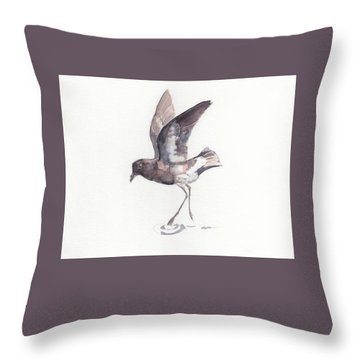 New Zealand Storm Petrel Throw Pillow