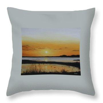 Newfoundland Sunset Throw Pillow