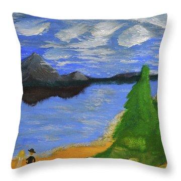 Newlywed Serenity  Throw Pillow