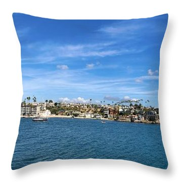 Throw Pillow featuring the photograph Newport Harbor Panorama  by Brian Eberly