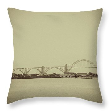 Newport Oregon Bridge Throw Pillow