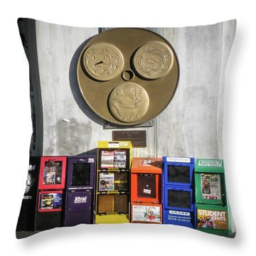 Newsstands At Gilmore Throw Pillow