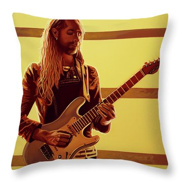 Nick Johnston Painting Throw Pillow